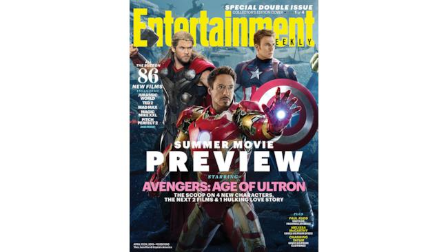 Enternatinment Weekly con Thor, Captain America e Iron Man