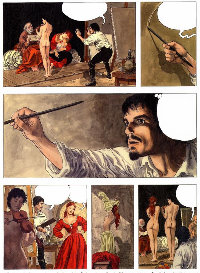 Tavole del Caravaggio di Milo Manara