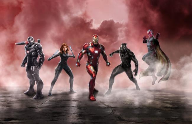 Team Iron Man in Civil War: Captain America