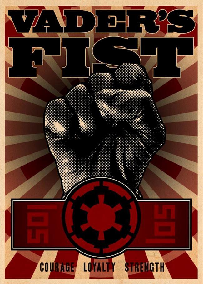 Manifesto di Darth Vader in stile Seconda Guerra Mondiale