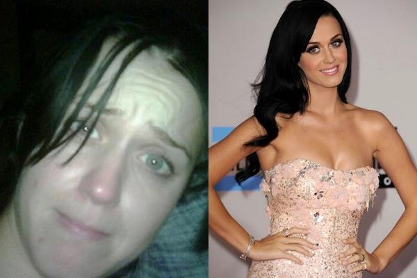 Katy Perry con e senza trucco