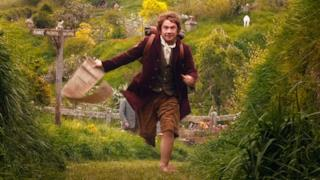 Bilbo Baggins in una scena dello Hobbit