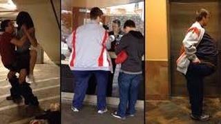 Due giovani entrano al cinema ma come un'unica persona