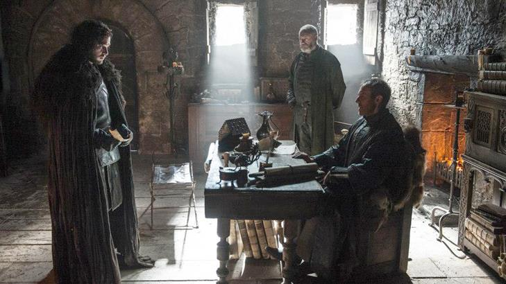 Jon Snow e Stannis Baratheon nella quinta stagione di Game of Thrones