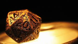 Il dado a 20 facce simbolo di Dungeons and Dragons