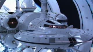 Concept di nave spaziale del futuro