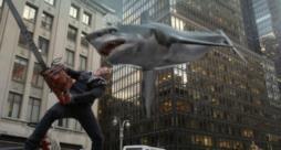 Scena del film Sharknado
