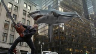 Scena del film Sharknado