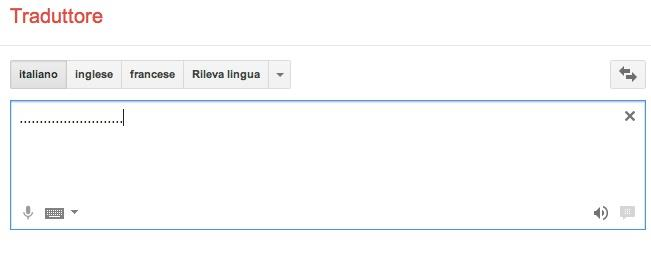 Punti in Google Translate