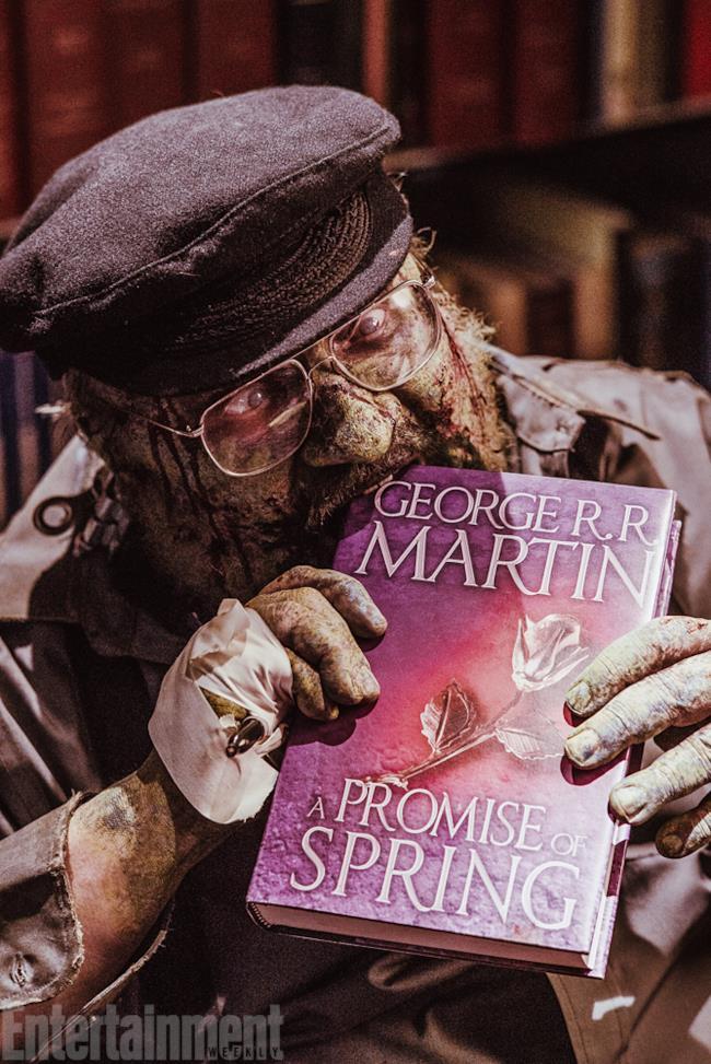George Martin zombie mangia l'ultimo libro di Game of Thrones