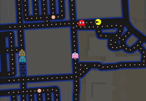 Pac-Man su Google Maps