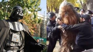 L'arresto di Chewbacca in Ucraina