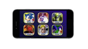 Una schermata di uno smartphone con alcuni classici SEGA