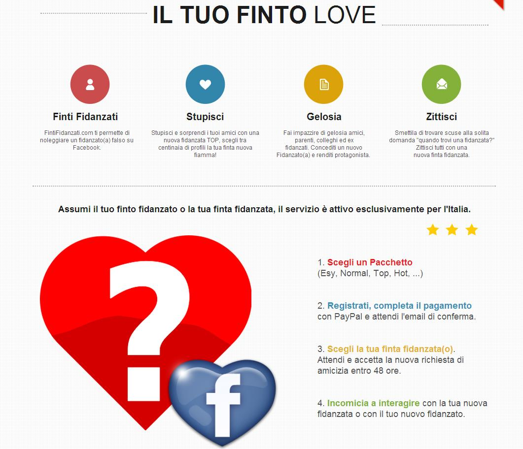 Homapage di FintiFidanzati.com