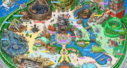 La mappa di Ghibli Land disegnata da Takumi