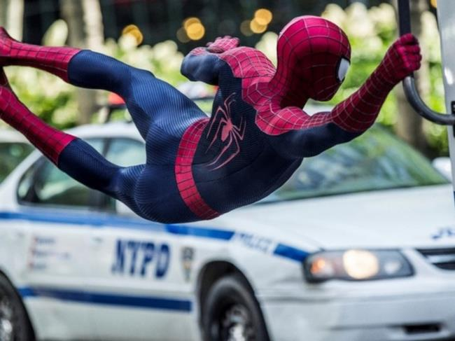 Spider-Man in un fotogramma del film
