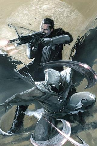 Moon Knight assieme al Punitore
