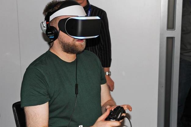 Progetto Morpheus Sony per la realtà virtuale in una simulazione ufficiale