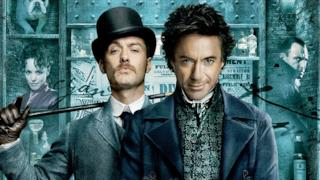 Robert Downey Jr. e Jude Law in Sherlock Holmes