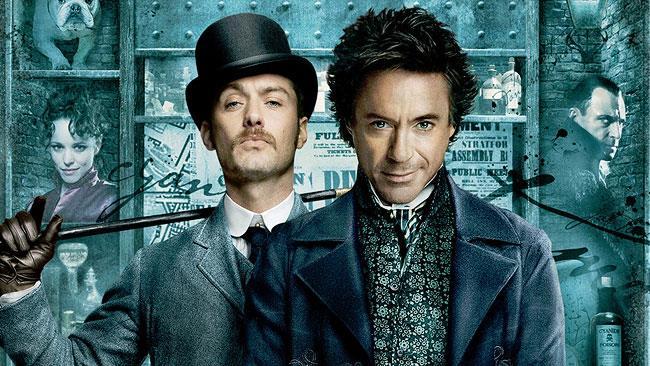 Robert Downey Jr. e Jude Law in Sherlock Holmes