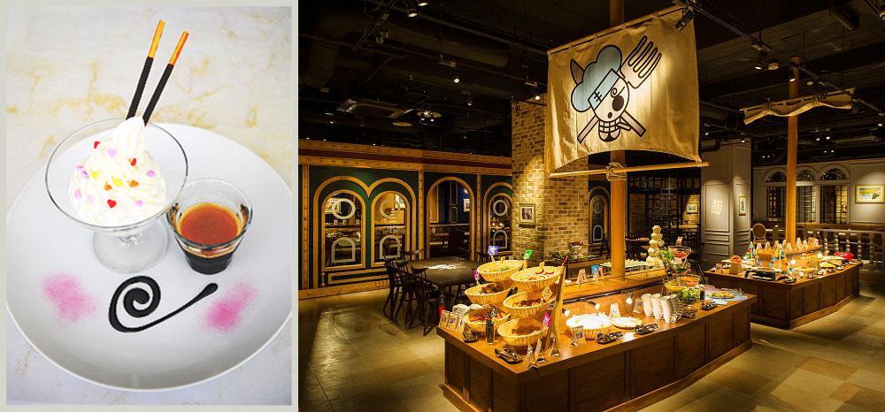 Un piatto piratesco e il ristorante della Tokyo One Piece Tower