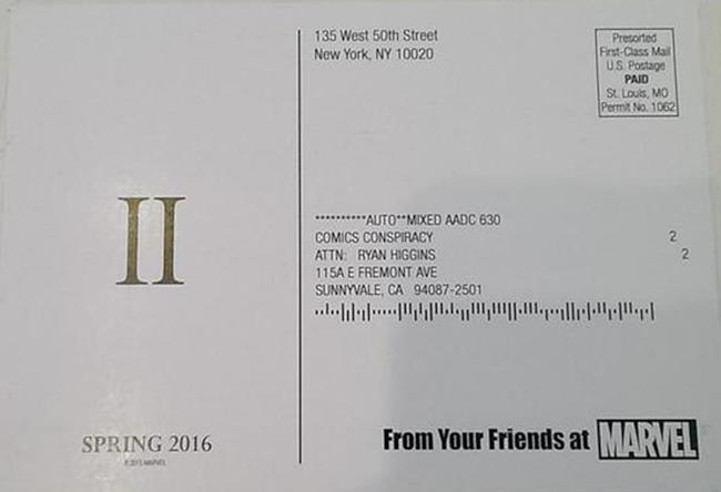 Una cartolina di Civil War 2