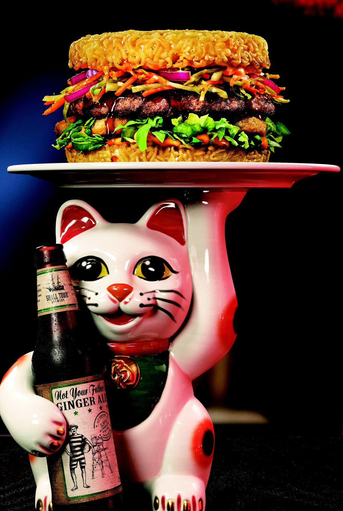 Il ramen burger di Keizo Shimamoto