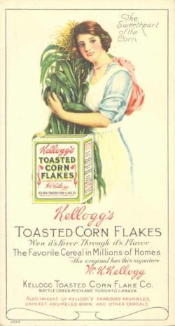 Pubblicità vintage dei cereali Kellogg's
