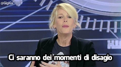 Alessia Marcuzzi annuncia il disagio sull'Isola