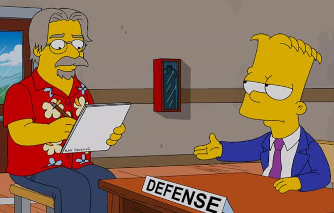 Il personaggio di Matt Groening all'interno della serie tv The Simpsons