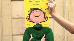 Gaston nella libreria Mollat a Bordeaux