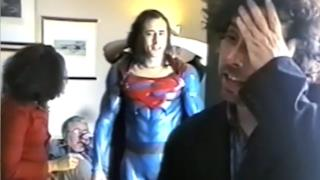 Nicolas Cage e Tim Burton in Superman Lives
