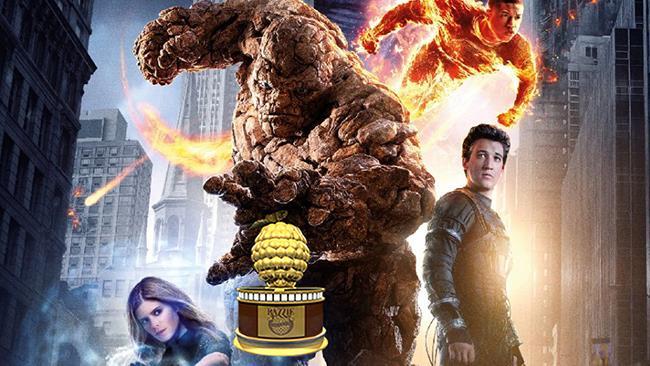 Il reboot de I Fantastici 4 trionfa insieme a 50 Sfumature di Grigio ai Razzie Awards 2016