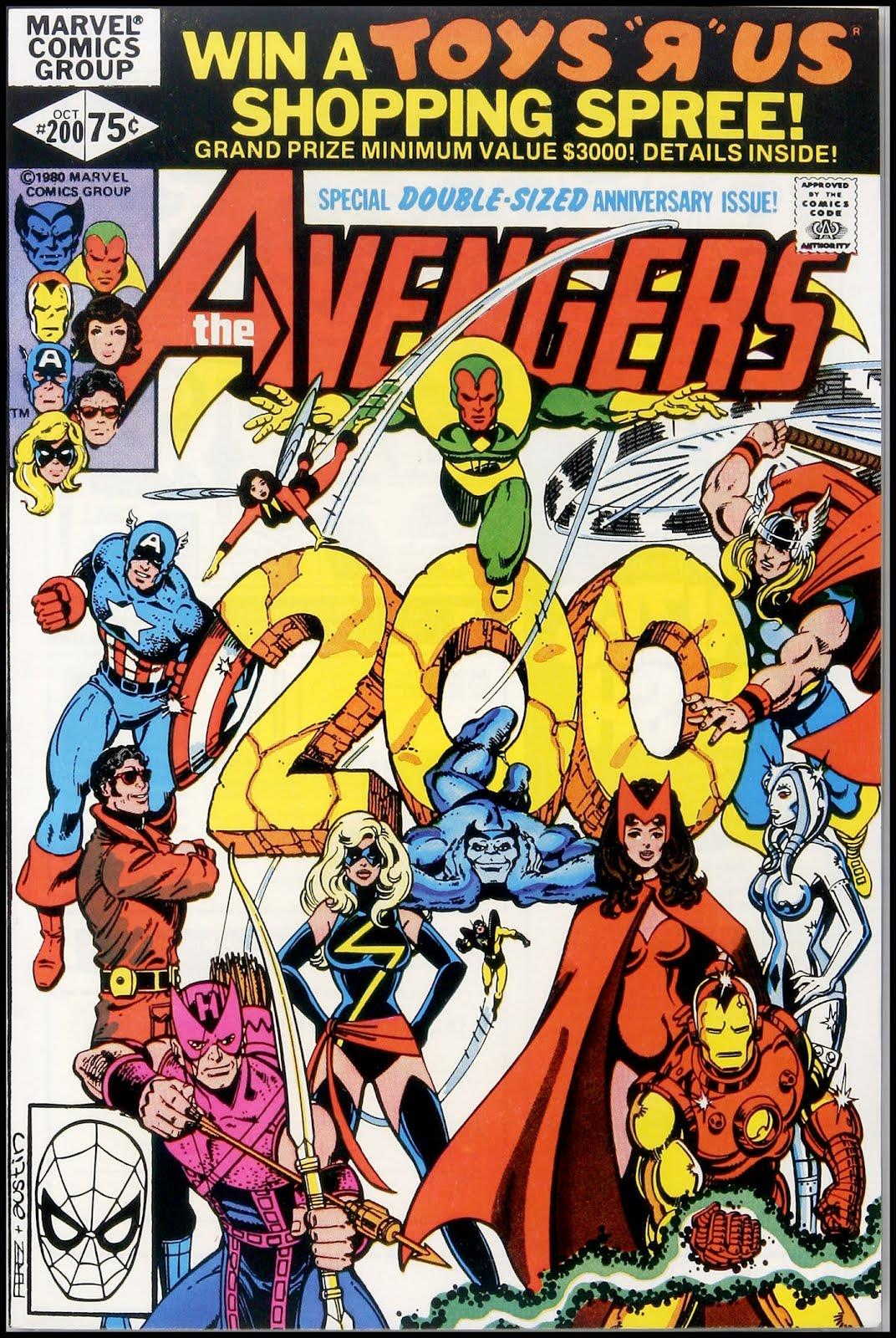 Cover di Avengers #200 (1980)