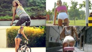 È primavera e le ragazze escono in bicicletta