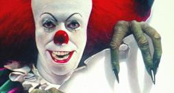 Il poster del live-action di IT del 1990 con Tim Curry