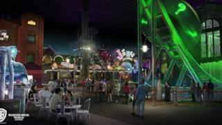 Un rendering del nuovo Warner Bros. World Abu Dhabi