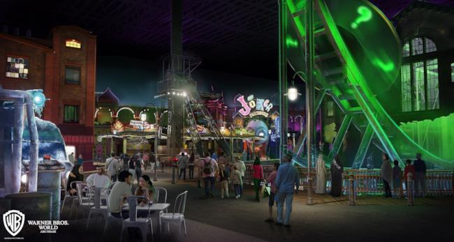 Un rendering del nuovo Warner Bros. World Abu Dhabi