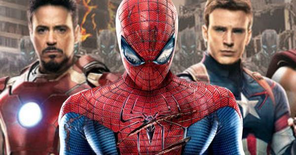 Spider-Man nella Civil War di Marvel in una fanart