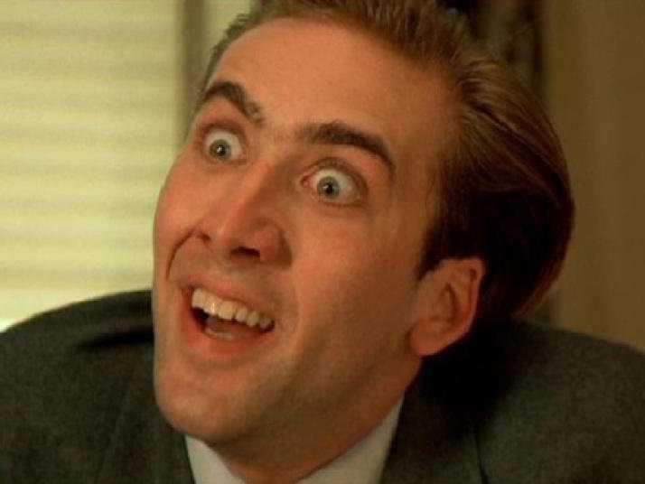Nicolas Cage in una scena dei suoi film più apprezzati dai Razzie