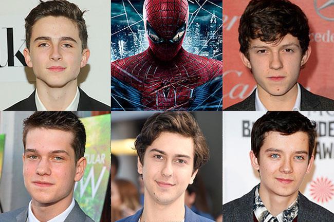Cinque dei candidati ufficiali al ruolo di Peter Parker nel nuovo Spider-Man