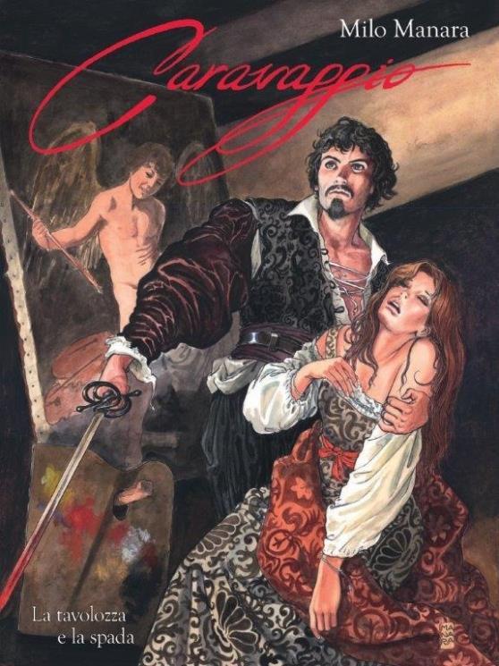 La copertina del primo tomo di Caravaggio di Milo Manara