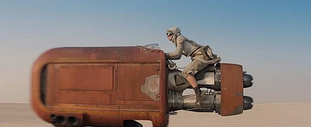 Speeder nel trailer di Star Wars 7