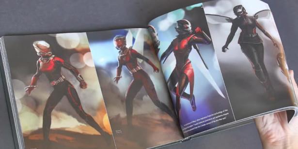 I costumi di Wasp nell'artbook di Ant-Man