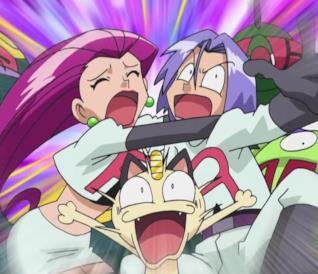 Il Team Rocket al completo nell'anime dei Pokémon