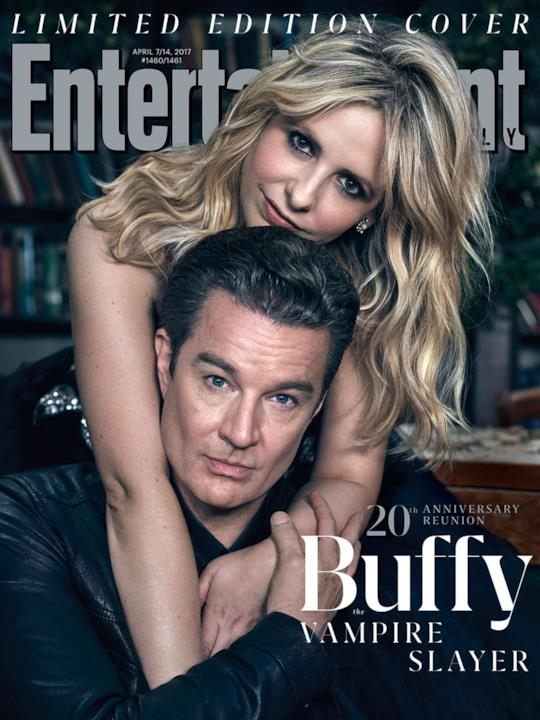 Sarah Michelle Gellar e James Marsters per la reunion di Buffy