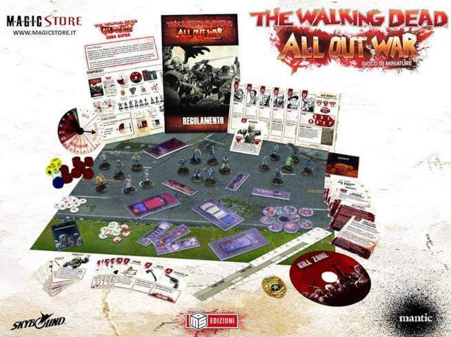 Panoramica del contenuto della confezione di The Walking Dead: All Out War