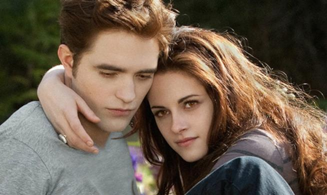 Robert Pattinson e Kristen Stewart in Twilight