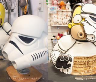 Questa golosa torta 3D trasforma Homer Simpson in uno Stormtrooper!