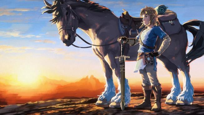 Link e Epona al tramonto